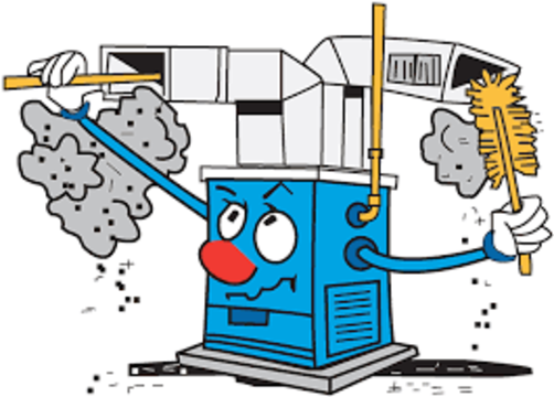 Furnace Cleaning Cartoon